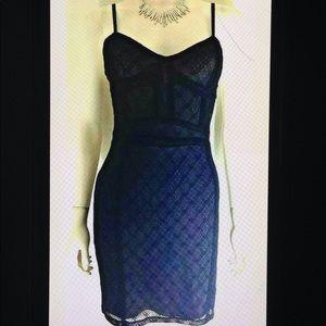 Zara Trafaluc Lace Bodycon Stretch LBD Mini Dress